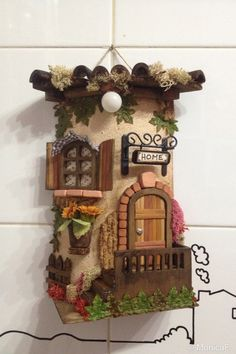Gema Rodriguez zapata's media content and analytics Tile Crafts, Craft Stick Crafts, Diy And Crafts, Arts And Crafts, Clay Wall Art, Clay Art, Miniature Crafts, Miniature Fairy Gardens, Clay Roof Tiles
