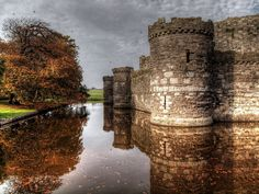 "According to UNESCO ""the castles and fortified towns of Gwynedd are the finest examples of late 13th century and early 14th century military architecture in Europe"". This is one of the four castles - Beaumaris Castle Anglesey (Photo by PhilnCaz, via Flickr)"