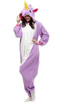 Purple Unicorn Adult Onesies Kigurumi Pajamas Cute Animal Costume Cospaly Partywear Outfit Homewear
