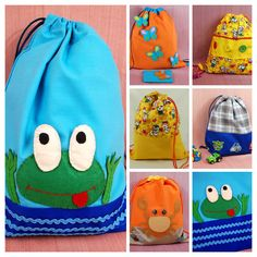 Beach backpack, preschool backpack, small drawstring bag, holiday gift, bunny bag, cute girls' bag, boy's backpack, shopping bag, rabbit print, kids style, yellow backpack, fabric backpack, baby backpack