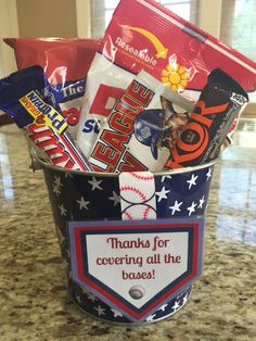 Baseball coach thank you gift. Little League Coach gift