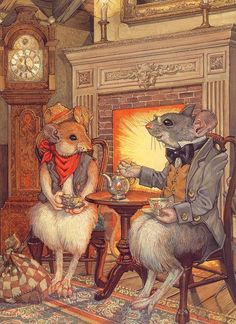 Don Daly ILLUSTRATION | The City Mouse and the Country Mouse