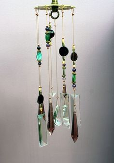 Crystal Windchimes Mother Earth Indoor / by natureinspiredcrafts, $87.00