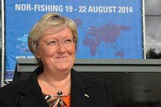 Fiskeriminister Elisabeth Aspaker på Nor-Fishing 2014