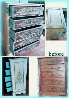 Μια τόσο δα μικρούλα αλλαγή..... Decoupage, Antiques, Handmade, Furniture, Home Decor, Art, Antiquities, Art Background, Antique