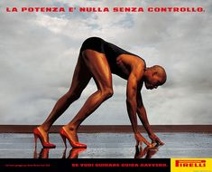 Carl Lewis photo by Annie Leibovitz for Pirelli Ad Campaign in the 1990's