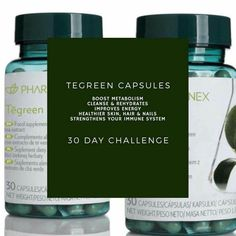 Tegreen Capsules, Galvanic Spa, Boost Metabolism, 30 Day Challenge, Anti Aging Skin Care, Immune System, Nu Skin, Beauty Care, Healthy Skin