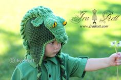 Snappy Simon the Crocodile Hat for Boys or Girls  Made by IraRott, $48.00