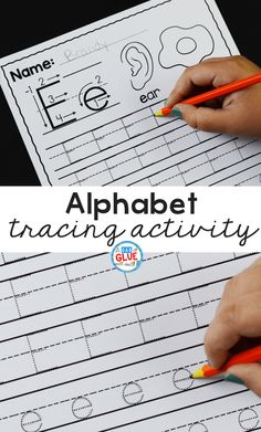 This printable Alphabet Tracing Worksheet is the perfect way to introduce students to writing letters! It's perfect for new writers!Alphabet Tracing Activity | Alphabet Tracing Worksheets | Printable Preschool Worksheets | Printable Kindergarten Worksheets | Letter Writing Worksheets | Tracing Worksheets | A Dab of Glue Will Do #alphabettracing #writingletters #preschool #printable #learningtowrite #alphabet