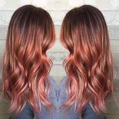 Blonde with pink red hair color by Masey of Butterfly Loft Salon www.hotonbeauty.com