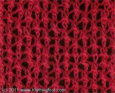 Star Rib Mesh - Knittingfool Stitch Detail