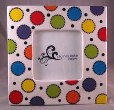 Bright Polka Dots Frame