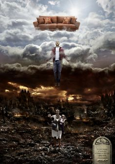 heaven & hell  ad for football channel in Spain