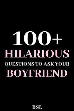 100 Funny Questions To Ask A Guy Want to make your guy laugh? These 100 funny questions to ask a guy will give you hours of hilarious laughs with your man. Couple Questions Funny, Weird Questions To Ask, Questions To Get To Know Someone, Would You Rather Questions, Deep Questions, Getting To Know Someone, Interesting Questions To Ask, Questions For Married Couples, Date Night Questions