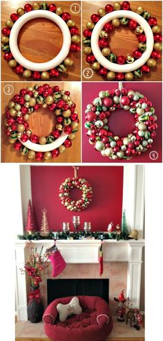 wreaths for front door christmas & wreaths for front door ; wreaths for front door everyday ; wreaths for front door christmas ; wreaths for front door diy ; wreaths on windows ; wreaths for front door spring Christmas Wreaths For Front Door, Christmas Ornament Wreath, Holiday Wreaths, Simple Christmas, Christmas Diy, Christmas Decorations, Elegant Christmas, Christmas Island, Christmas Quotes