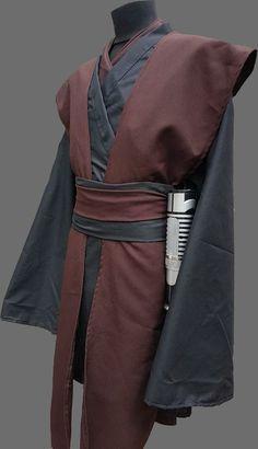 Sith Costume, Diy Jedi Costume, Traje Jedi, Star Wars Dress, Jedi Outfit, Star Wars Halloween Costumes, Sister Costumes, Jedi Robe, Jedi Cosplay
