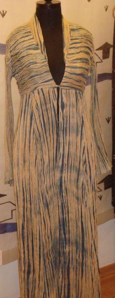 Arashi Shibori Long Jacket