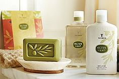 Thymes Bath and Body in the Olive Leaf Fragrance.....my fav!