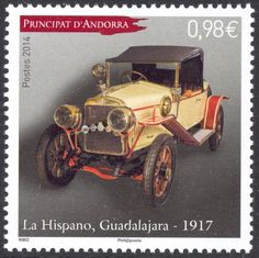 Stamp%3A%20La%20Hispano%2C%20Guadalajara%2C%201917%20(Andorra%2C%20French%20Administration)%20(2014%20Old%20Cars)%20Yt%3AAD-FR%20750%2CMi%3AAD-FR%20771%2CAFA%3AAD-FR%20774%20%23colnect%20%23collection%20%23stamps