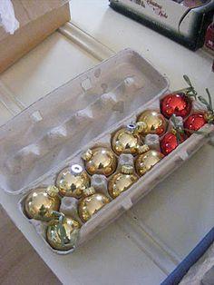 egg cartons for xmas ornaments