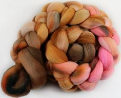 Rose Sable merino wool top for spinning and felting  4.2