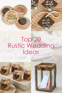 Find the perfect favors, decorations and supplies for a Rustic Wedding!