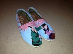 Mulan painted shoes | painted shoes # toms # disney # mulan