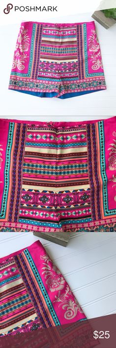 Flying Tomato    Boho Printed Shorts Colorful boho style  Has light stretch  Women's size medium  Measurements laying flat: •Waist- 14.5 in •Length- 12.5 in •Inseam- 2.25 in Flying Tomato Shorts