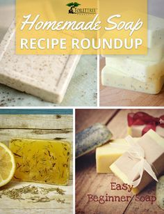Here's a roundup of simple DIY homemade soap recipes.