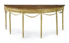 date unspecified A George III inlaid mahogany and giltwood large pier table Estimate 6,000 — 8,000 USD LOT SOLD. 5,625 USD (Hammer Price with Buyer's Premium)