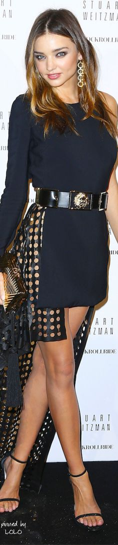 Miranda Kerr in Versus Versace Spring 2015 at the Stuart Weitzman Party | The House of Beccaria#