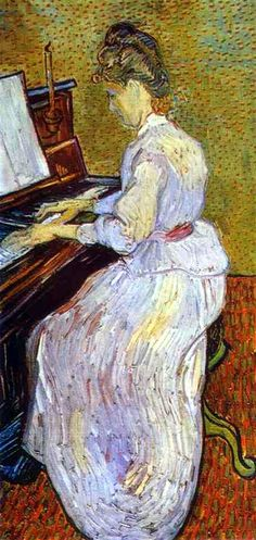 Vincent van Gogh. Mademoiselle Gachet at Piano. 1890. Oil on canvas. Kunstmuseum Basel, Basel, Switzerland.