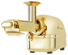 Gold Juicer. I kind of secretly love this but I'm pretty sure that I would just get it messy all the time or fuck up the gold on it.