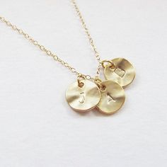 Three Initial Charms Necklace