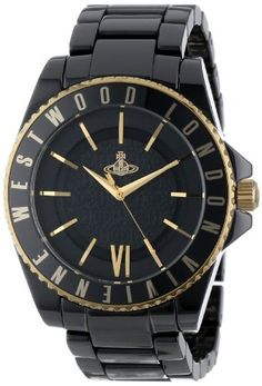 Vivienne Westwood Unisex VV048GDBK GoldTone and Black Ceramic Bracelet Watch >>> Check out the image by visiting the link. (Note:Amazon affiliate link)