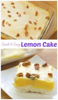 A refreshing flavor on a cake Lemon Cake | Simply Bakings