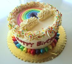 Rainbow Birthday Cake by 2tarts Bakery   New Braunfels, TX   www.2tarts.com