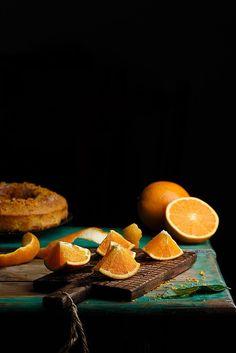 Naranja recién cortada