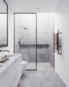 Dreaming of a designer or luxury bathroom? We've gathered together lots of gorgeous bathroom ideas for small or large budgets, including baths, showers, sinks and basins, plus bathroom decor ideas. Contemporary Bathrooms, Modern Bathroom Design, Bathroom Interior Design, Contemporary Bathroom Inspiration, Bad Inspiration, Interior Design Inspiration, Design Ideas, Design Design, Tile Design