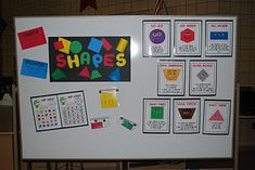 "I love the Shape Monster Story printable. ""Shape Monster, Shape Monster. Munch, munch, munch. How about a red triangle for your lunch? Kids draw the shape for each page. Could also read out loud and feed paper bag monster cut out shapes to practice."