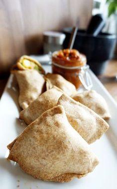 Vegane Samosas im Ofen gebacken