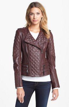 HOT Women's Genuine Lambskin Real Leather Motorcycle Slim fit Biker Jacket WN37 #WesternOutfit #Motorcycle #EveryDay