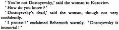 Quotation from Mikhail Bulgakov's The Master and Margarita