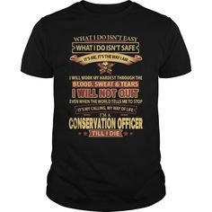 (Tshirt Choice) CONSERVATION-OFFICER [Tshirt design] Hoodies, Funny Tee Shirts