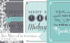 Need some last minute New Years Eve decor to liven up your home or NYE party? Well we have a fabulous collection of New Years Eve Printables for you!