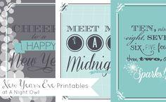Free New Years Eve Printables at @anightowlblog