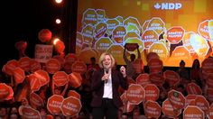 Tom Mulcair gives his final rally in Edmonton prior to the 2015 federal election. He is introduced by Alberta's Premier Rachel Notley, who is introduced by NDP candidates Janis Irwin (Edmonton-Greisbach) and Gil McGowan (Edmonton-Centre). October 16, 2015 at the Shaw Conference Centre.