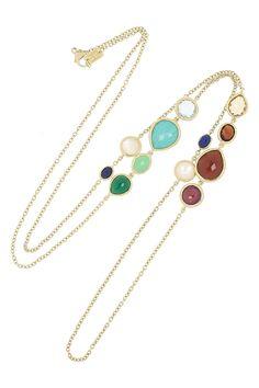 ippolita gelato 18-karat gold multistone necklace.