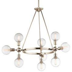 Restoration Warehouse Garim Adjustable 9 Light Chandelier | Sputnik | Pendants | Lighting | Candelabra, Inc.