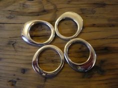 Four Wax Cast Silver Rings